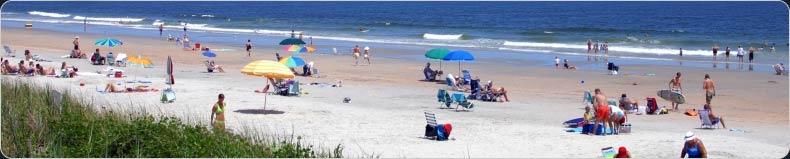 People relaxing on the SC coast
